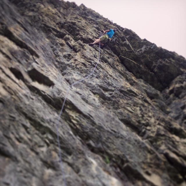 Always great climbing with good mates, seeing them try hard and tick projects of their own. Spent some great days out climbing with Tim Lowe on the Yorkshire limestone crags back in May. Here is about to get dead angry on the Kilnsey F8a, Dead Calm.