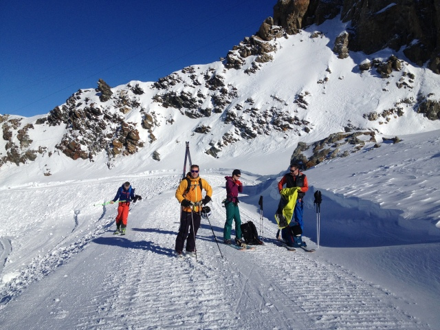 Last day of 2015, on the skis in La Grave...primo!