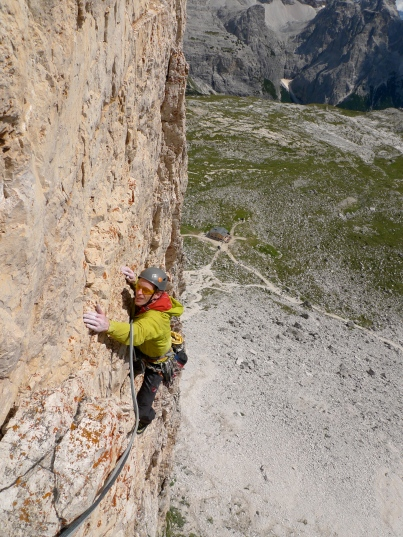 Before heading back to the UK I was lucky to be able to spend some time with this guy. This climb in the Dolomites was on Garry's 40th birthday. Rock climbing doesn't get much better.